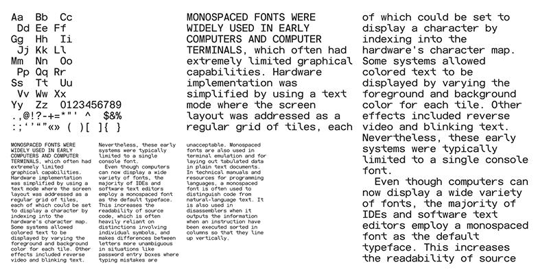 Monospace Typography
